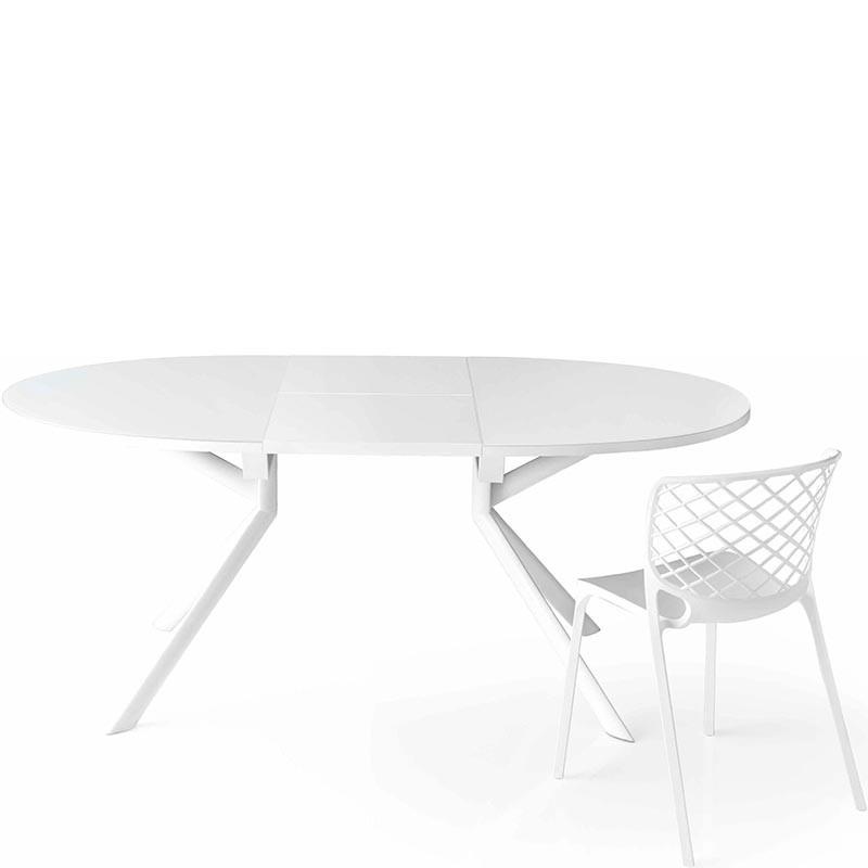 tavolo giove  di connubia calligaris allungabile vetro temprato