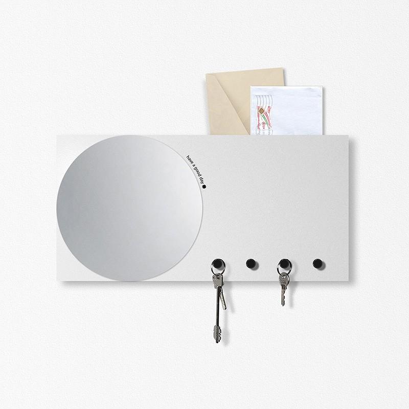 specchio-portachiavi in metallo di dESIGNoBJET multifunzione