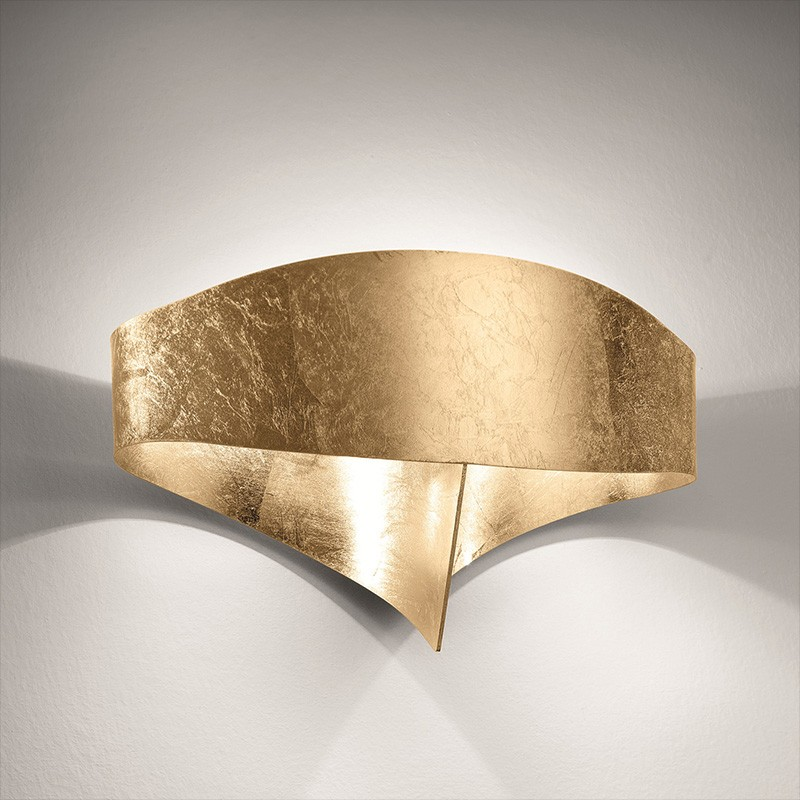 Applique scudo foglia di Selène oro