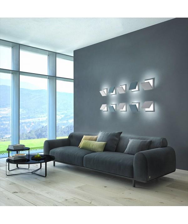 Applique Spy Bianco e azzurro di selène parete