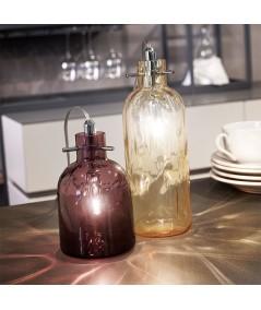 lampada da tavolo bossa nova ambra e ametista  di selène ambientata
