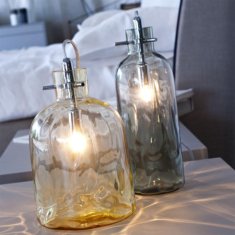 lampada da tavolo bossa nova ambra  di selène