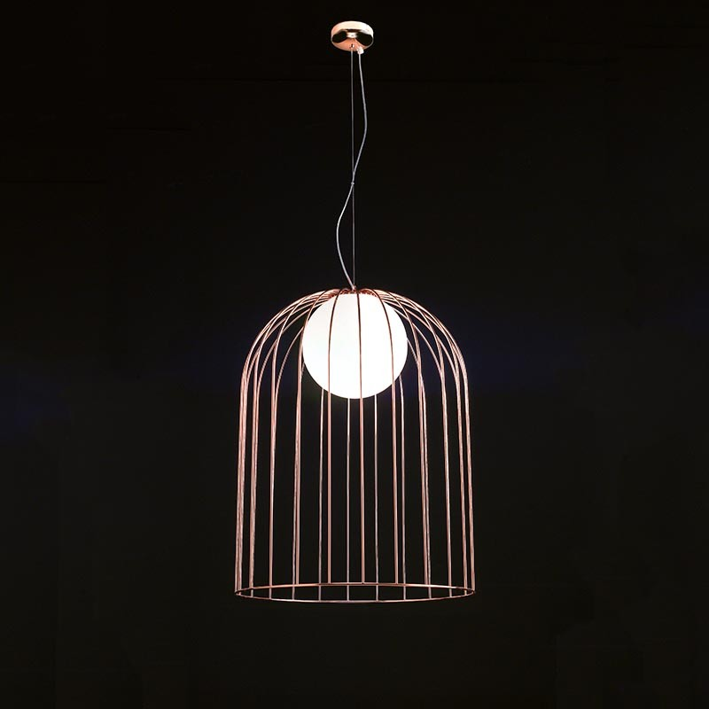 lampada a sospensione kluvì di selène in rame