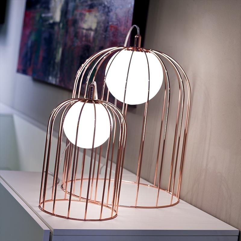 lampada da tavolo kuvlì di selène rame