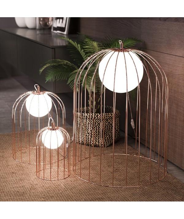 lampada da tavolo kuvlì di selène rame trio