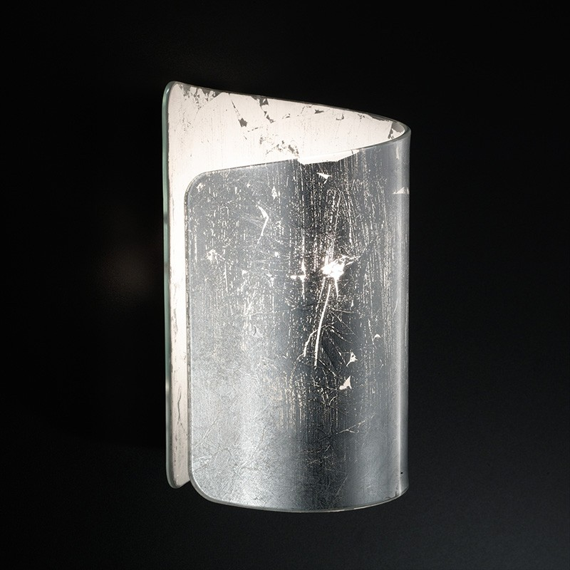 applique papiro di selène con decoro foglia argentoi