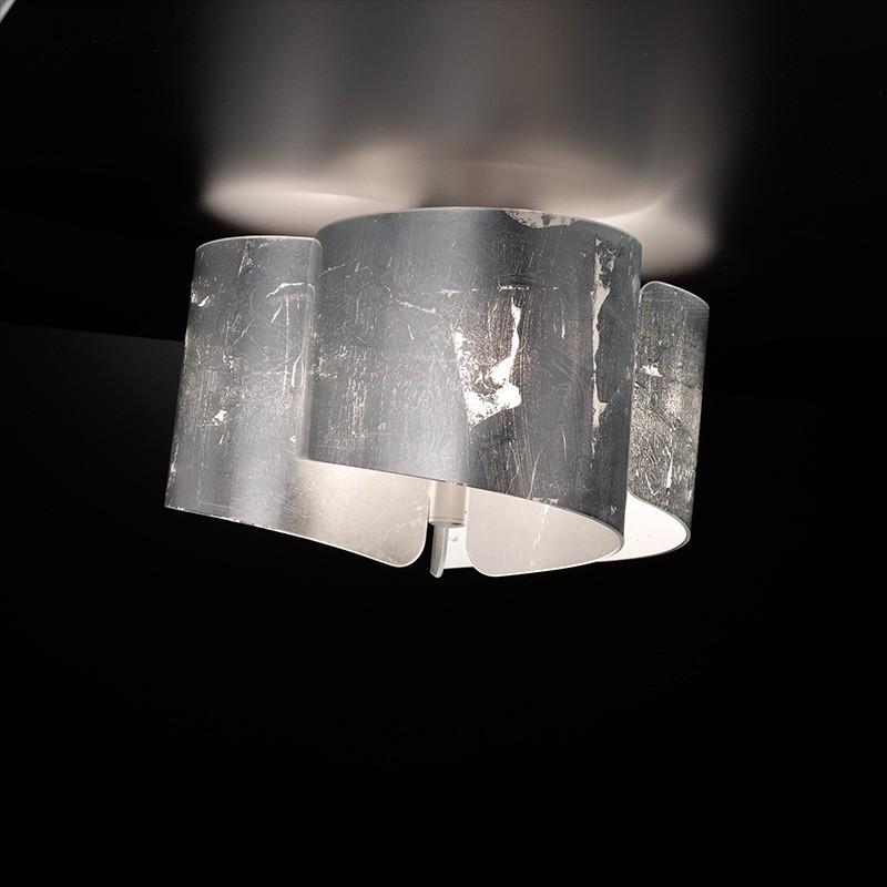 plafoniera papiro di selène foglia argento piccola