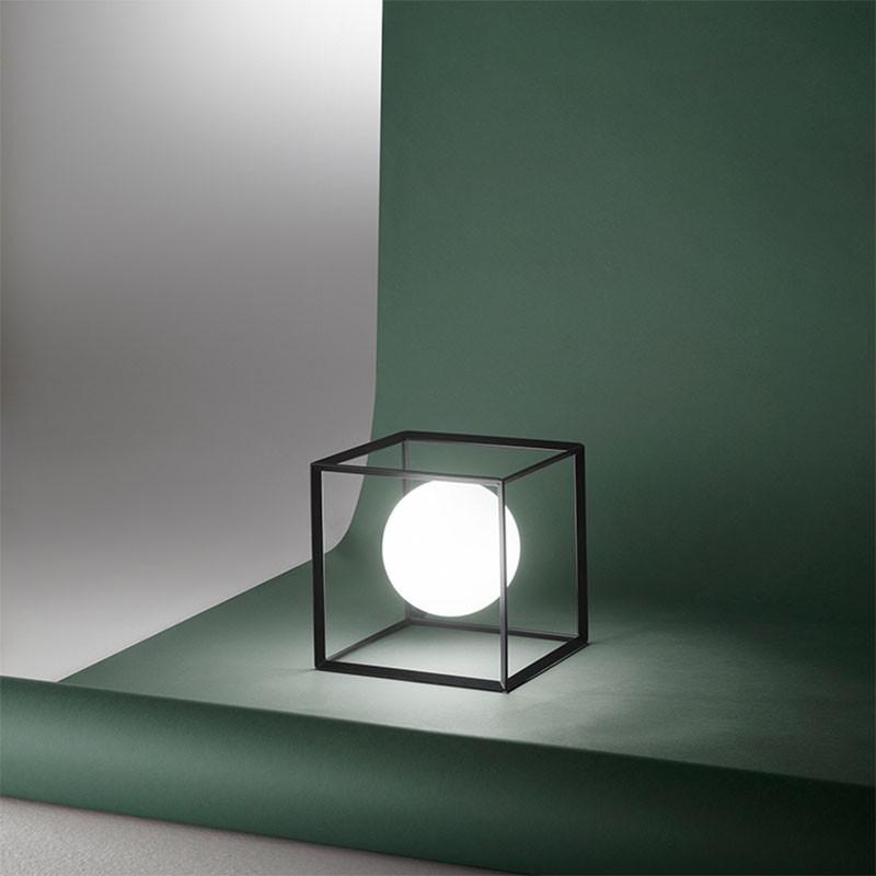 Lampada da Tavolo Cube Nero di Perenz