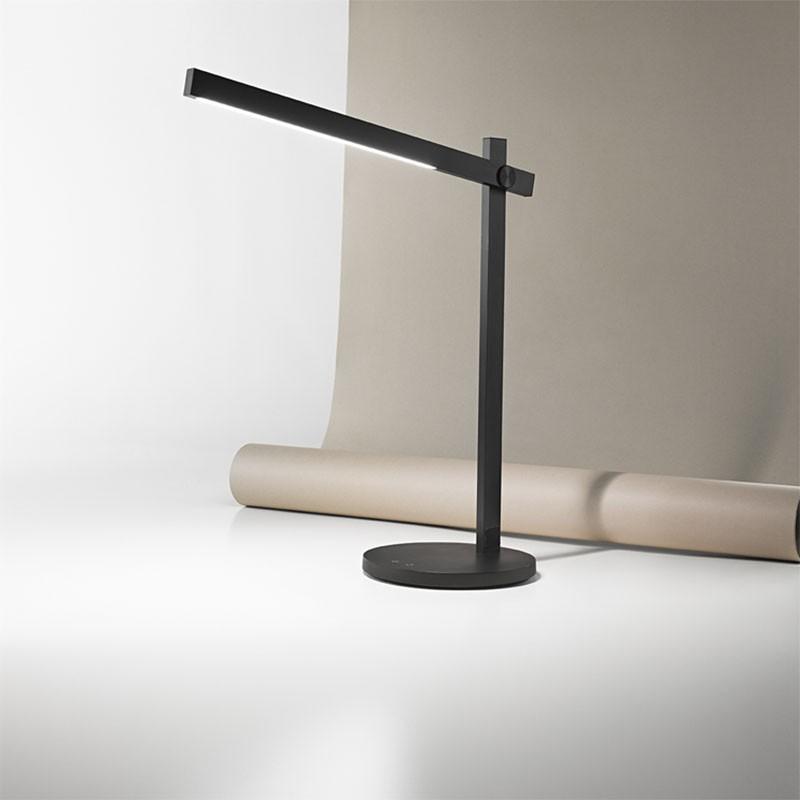 Lampada da tavolo Ruller Nero