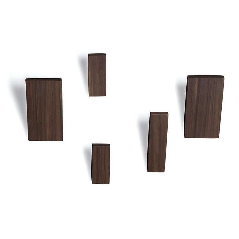 appendini excalibur di caon arreda in legno noce o rovere naturale