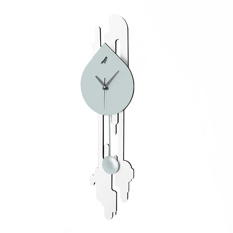 Orologio da parete Fluid bianco e grigio de I-Dettagli