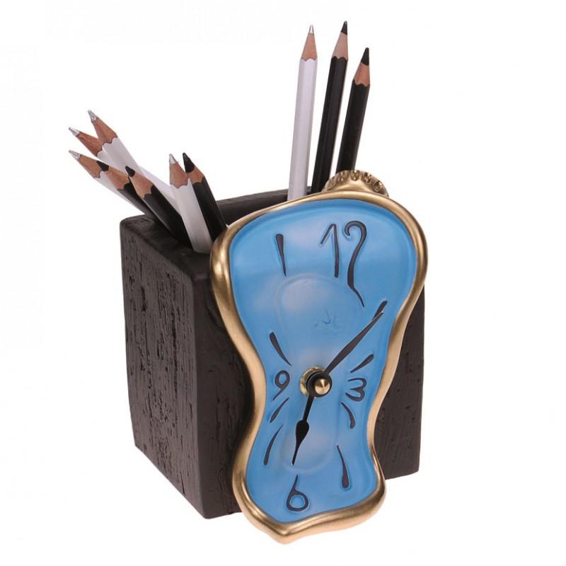 Figueras orologio da tavolo con portamatite incorporato