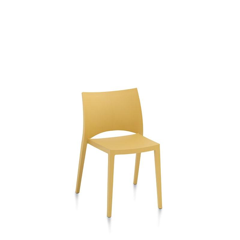 sedia aqua di bontempi casa in polipropilene giallo