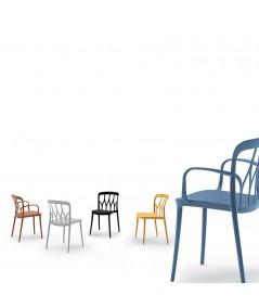 sedia gipsy di bontempi casa in polipropilene colorato e fibra di vetro riciclabile