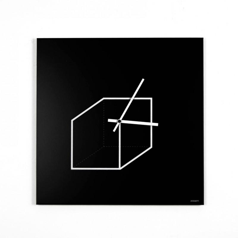 Orologio da parete Cube in metallo
