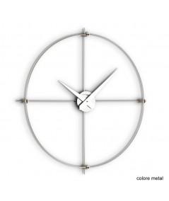 Omnus orologio da parete in acciaio satinato e metal