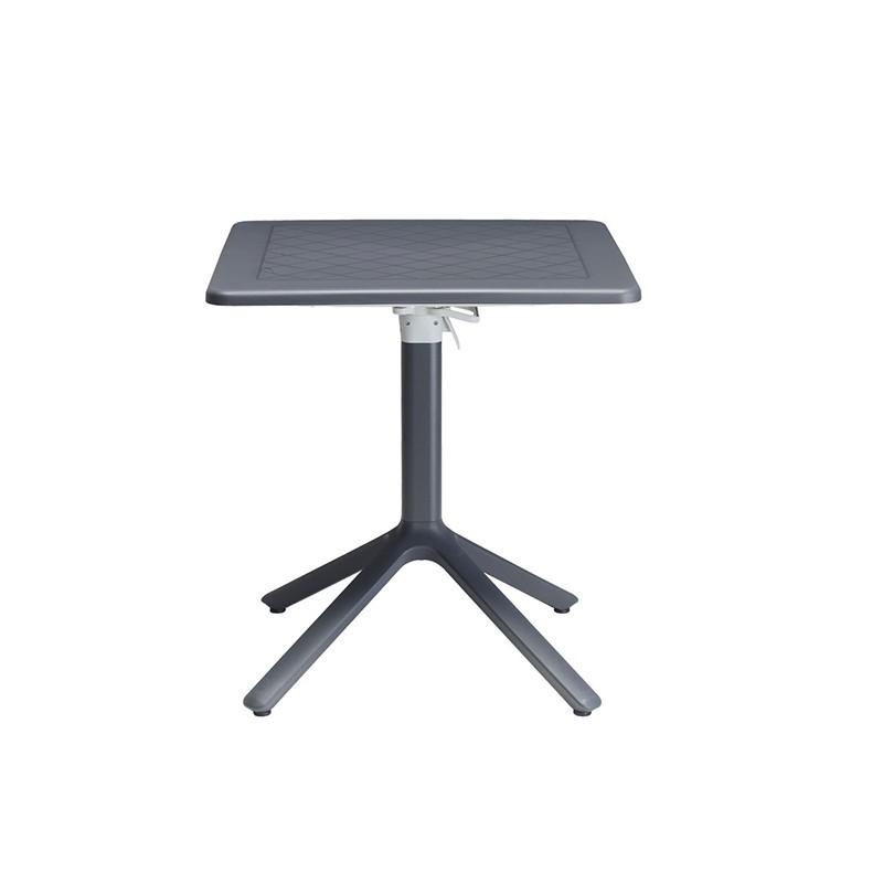 tavolino reclinabile e affiancabile di scab in alluminio e tecnopolimero antracite