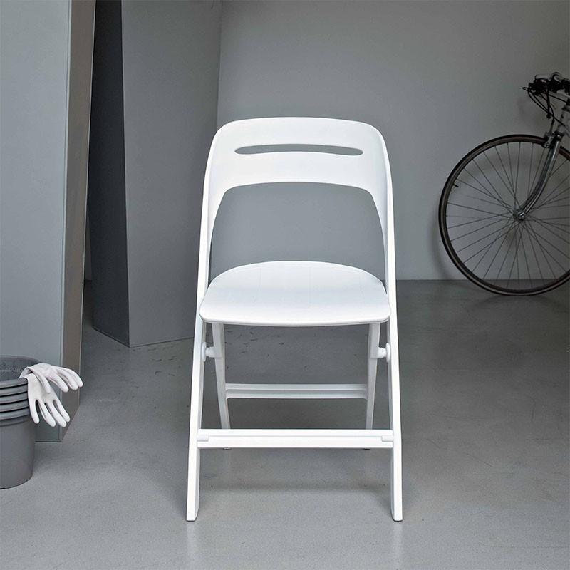 sedia per esterno gill di ingenia casa in polipropilene bianco