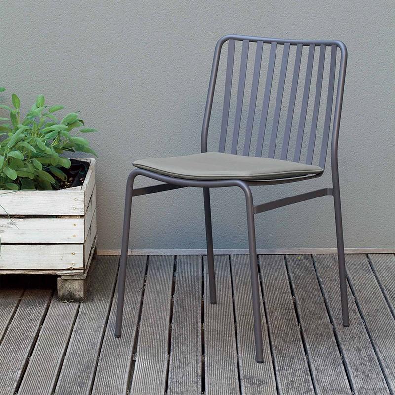 sedia per esterno street di ingenia bontempi in acciaio laccato antracite