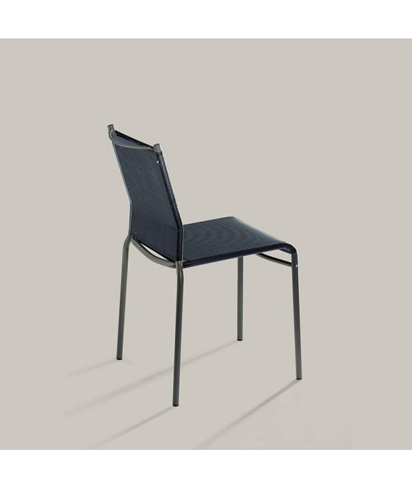 sedia per esterni liù di ingenia bontempi in metallo e texiplast nero