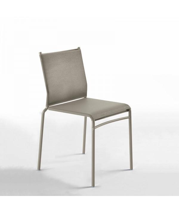 sedia per esterni liù di ingenia bontempi in metallo e texiplast  sabbia