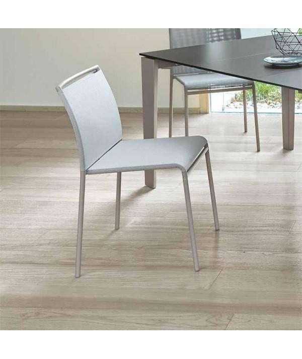 sedia per esterni liù di ingenia bontempi in metallo e texiplast  bianco