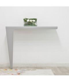 Consolle tavolo tavolo da parete in metallo laccato bianco