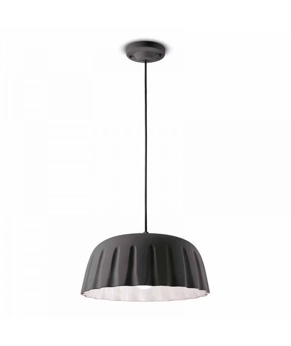 lampade a sospensione di ferroluce in ceramica grigio nerastro