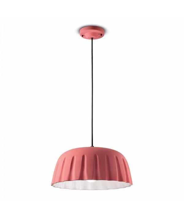 lampade a sospensione di ferroluce in ceramica rosa corallo