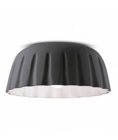 lampada a soffitto di ferroluce in ceramica  grigio nerastro