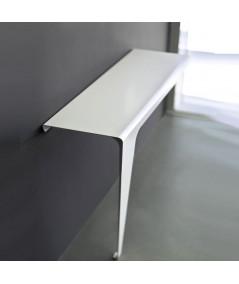 Consolle tavolo Lama laterale in metallo laccato bianco