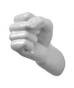 Gancio appendino da parete  in resina di colore bianco