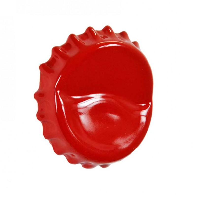 Appendino da parete Bottle Cap Hanger rosso