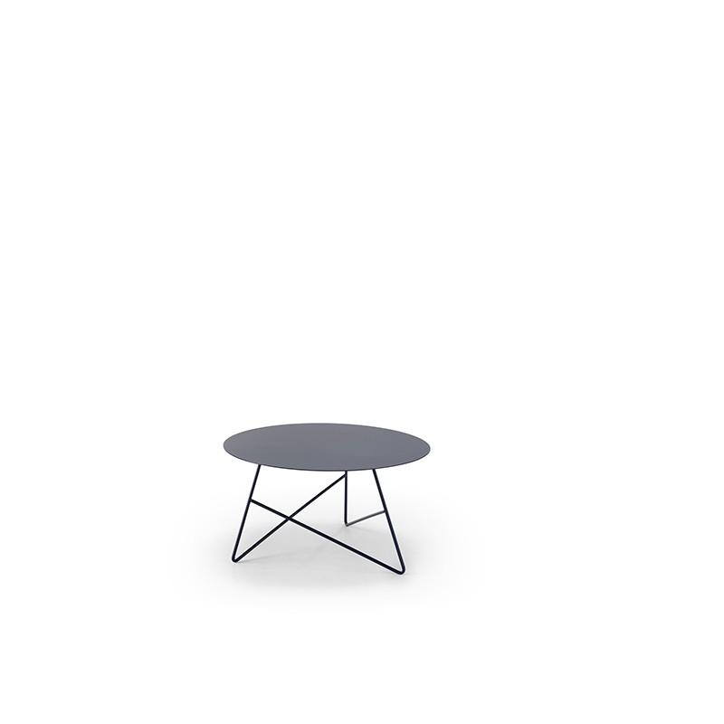 tavolino per esterno ermione di memedesign in metallo verniciato grafite