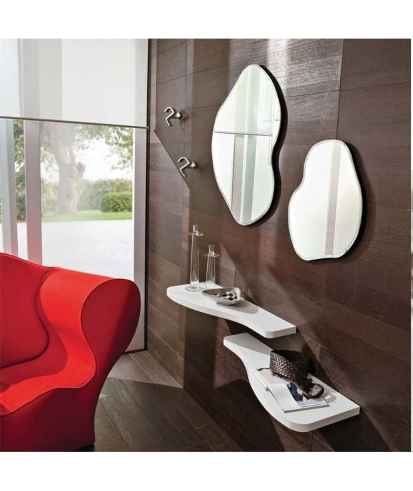 Composizione Ingresso Nancy  con specchio appendini e mensole