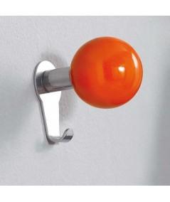 Carambola appendiabiti da parete in metallo arancio