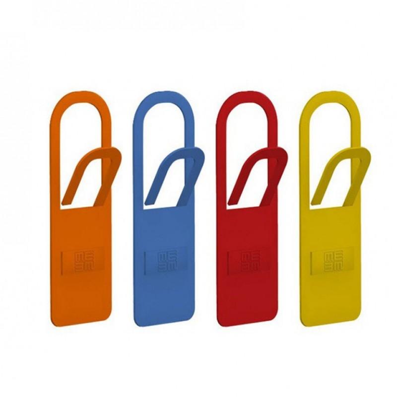 Appendiabiti Graffetta in metallo colorato arancio petrolio papavero e giallo
