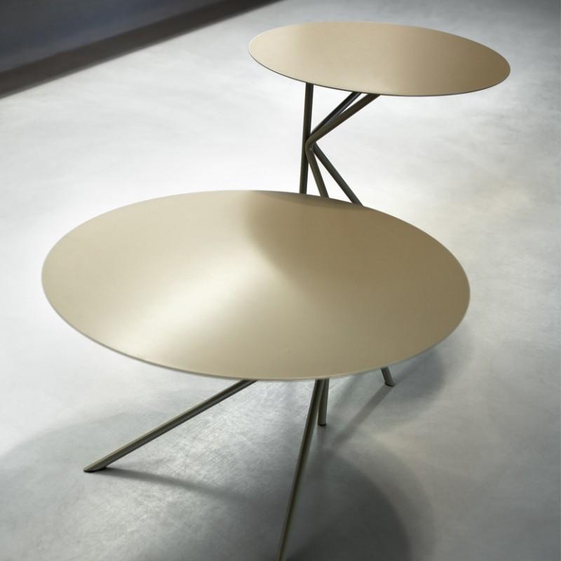 Tavolino rotondo Twin in metallo