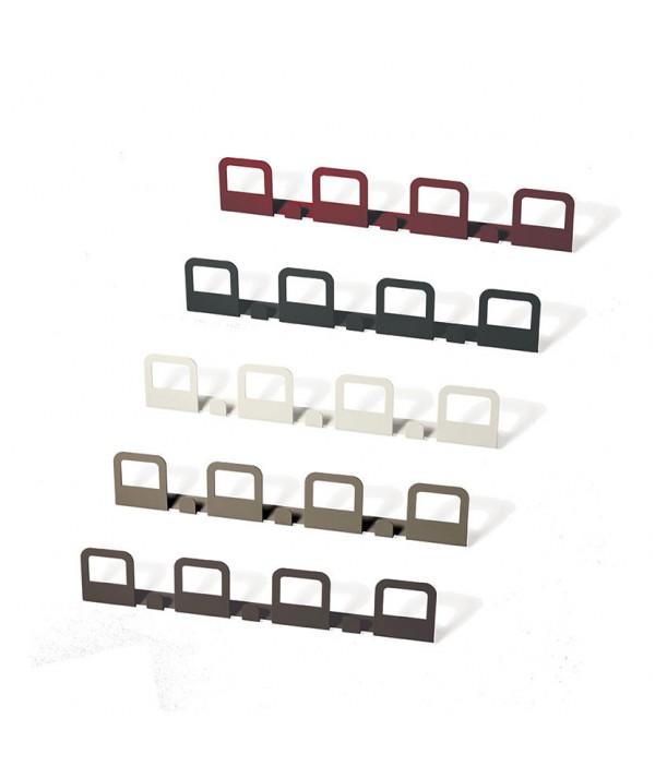 Appendiabiti Hang 4 in metallo laccato diversi colori