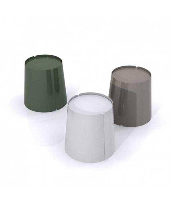 Bobino tavolino rotondo a forma conica in metallo colorato