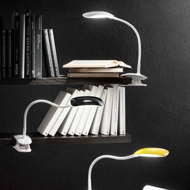 Lampada Flex Pinza di colore bianco giallo e nera